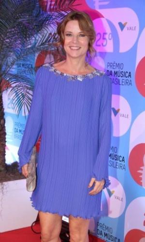 14.mai.2014 - Vera Zimmermann vai ao 25º Prêmio da Música Brasileira no Rio de Janeiro