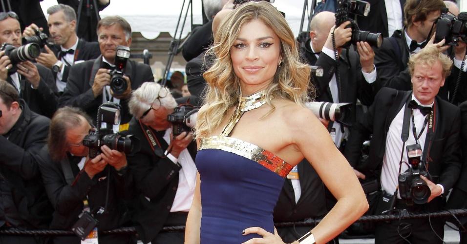 17.mai.2014. Grazi Massafera no tapete vermelho de Cannes
