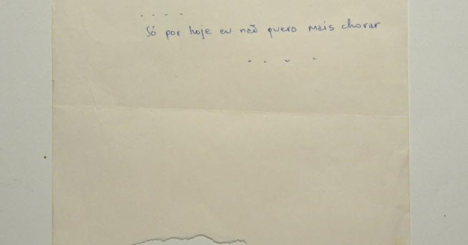 12.mai.2014 - Manuscrito da música
