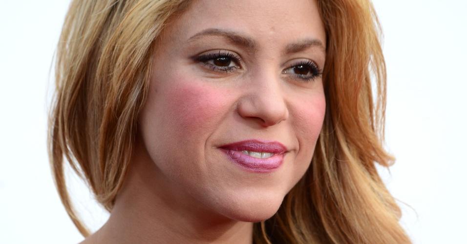 18.mai.2014 - Cantora Shakira no tapete vermelho do Billboard Music Awards, em Las Vegas