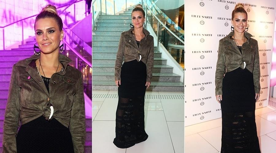 19.mai.2014 - Carolina Dieckmann prestigiou o lançamento de uma coleção de moda feminina. O evento aconteceu em São Paulo