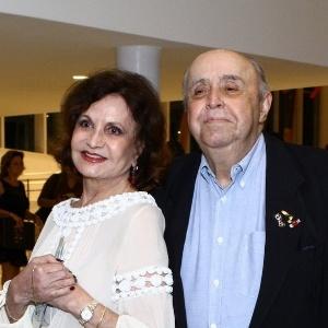 Rosamaria Murtinho e Mauro Mendonça em maio do ano passado