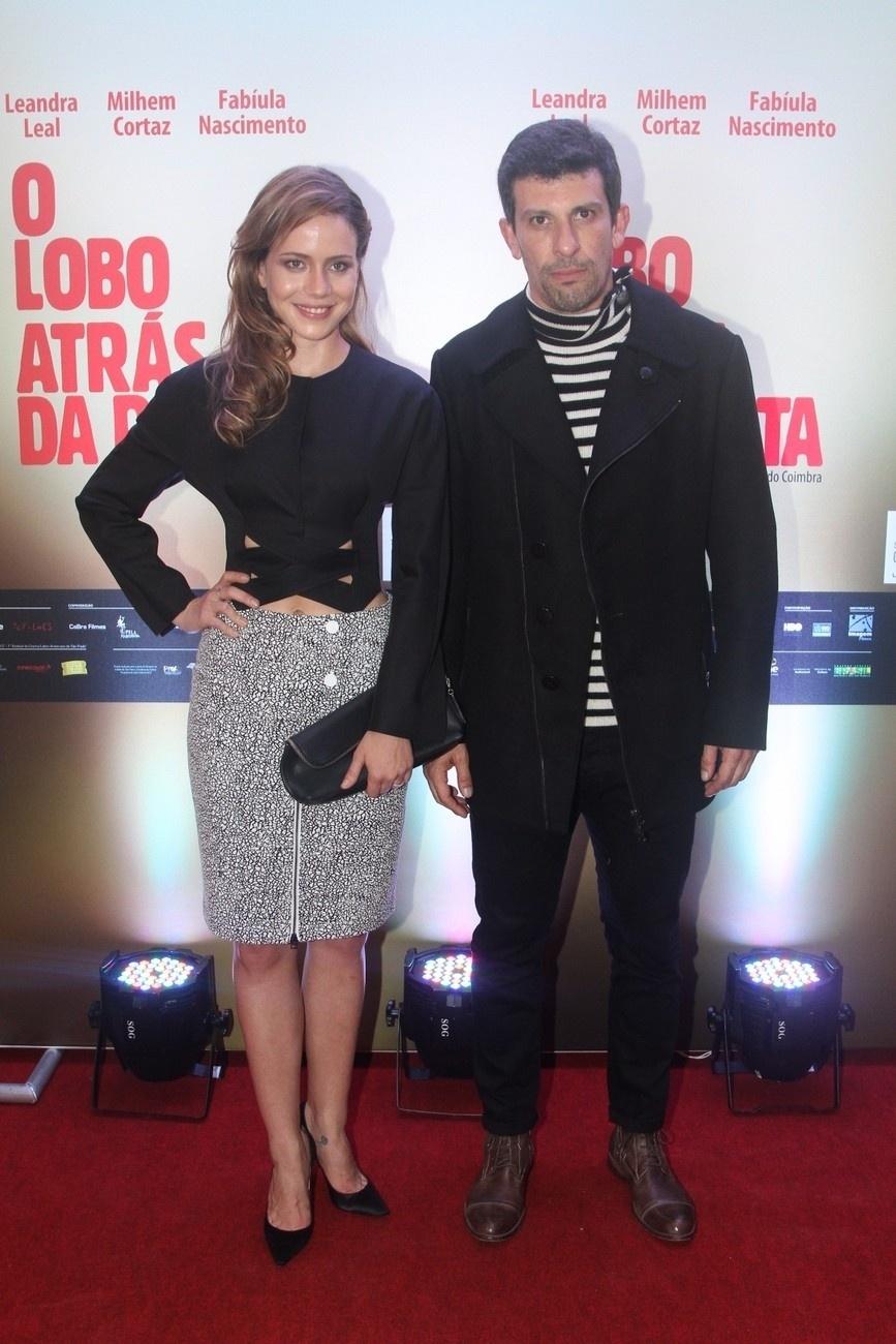19.mai.2014- Leandra Leal e Milhem Cortaz chegam para a pré-estreia do longa