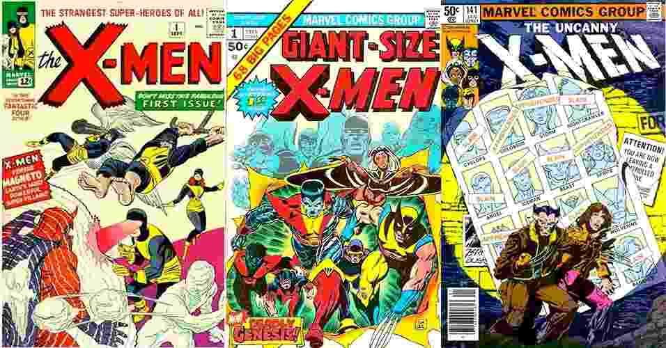 Montagem com capas de HQs dos X-Men - Reprodução