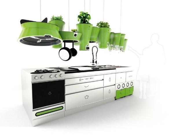 A Ekokook é uma cozinha modular que alia eletrodomésticos convencionais e sistemas de reciclagem - Estúdio Faltazi/ Divulgação