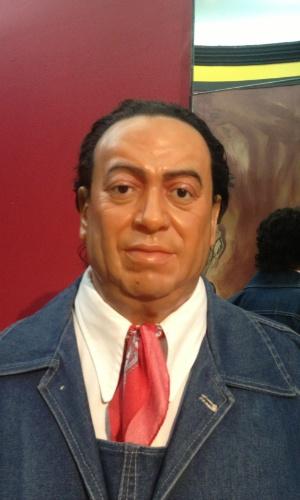 Detalhe da estátua do aclamado artista mexicano Diego Rivera