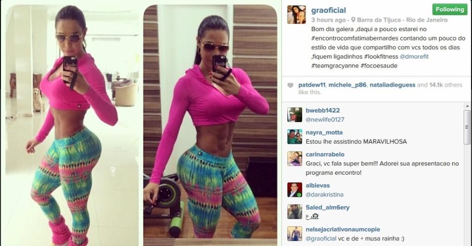 Gracyanne Barbosa mostra foto no Instagram