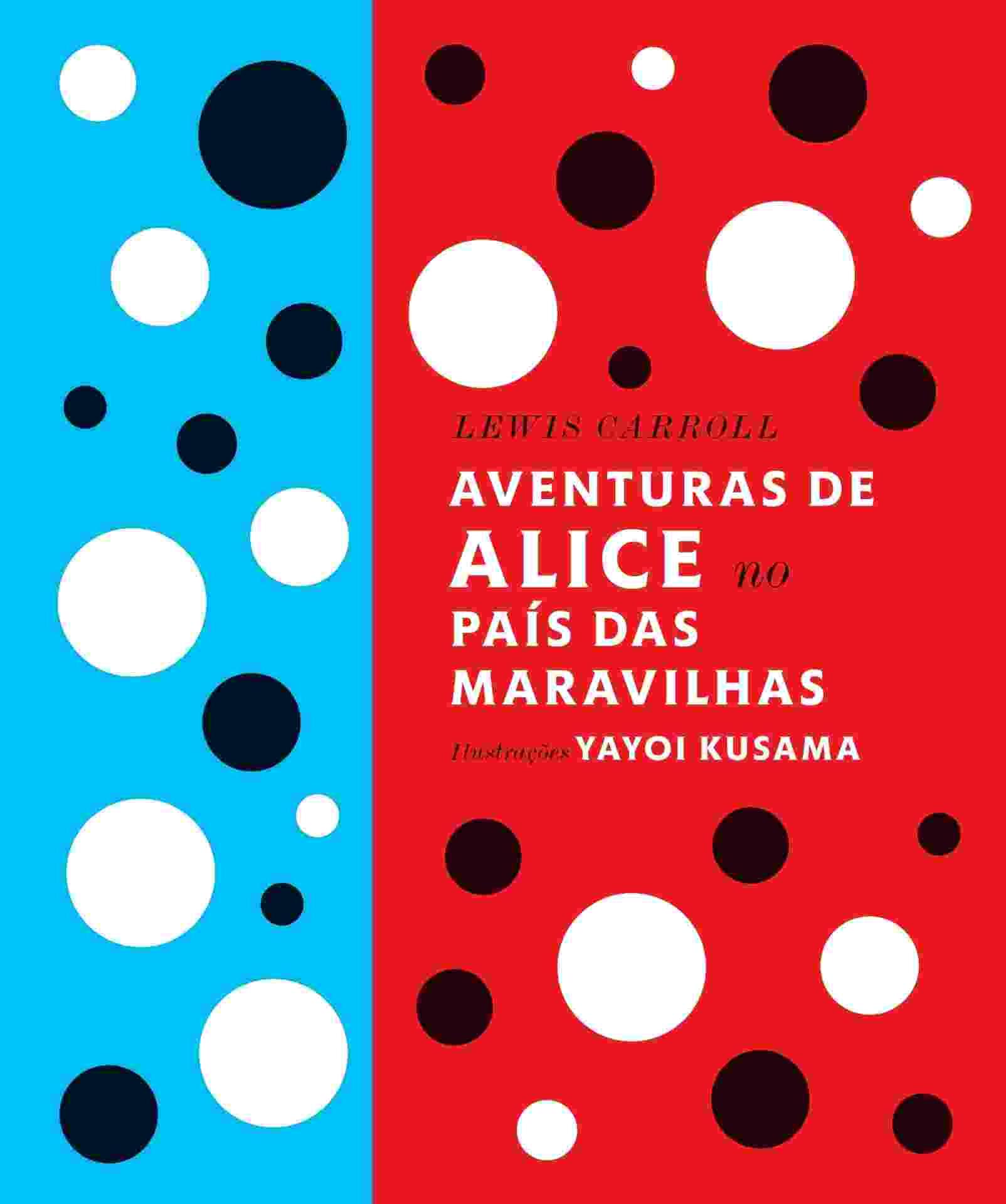 """Novo livro """"Aventuras de Alice no País das Maravilhas"""" é o encontro do escritor Lewis Carroll com artista Yayoi Kusama - Divulgação"""