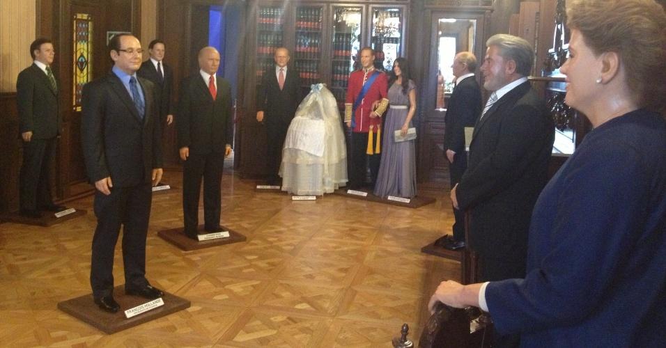 O Museu de Cera da Cidade do México tem uma sala reservada apenas para personalidades de poder político, como a presidente do Brasil, Dilma Rousseff, e o presidente da Rússia, Vladimir Putin. No local é também possível ver as estátuas do casal britânico William e Kate ao lado do berço do pequeno George