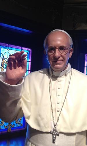 Um dos papas mais pop da história, Jorge Mario Bergoglio não poderia ficar de fora do Museu de Cera da Cidade do México