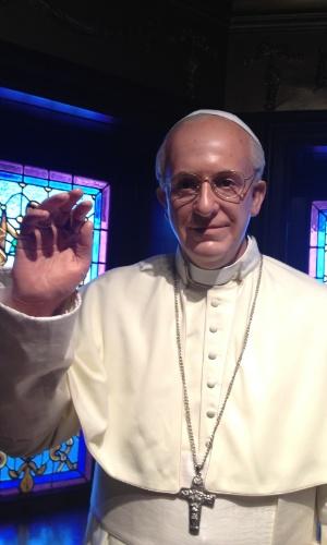 Um dos papas mais pop da história, José Mario Bergoglio não poderia ficar de fora do Museu de Cera da Cidade do México