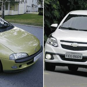 Opel Tigra e Chevrolet Agile no Jogo das plataformas - UOL