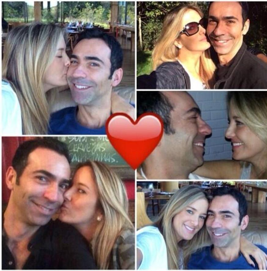 22.mai.2014 - Ticiane Pinheiro e César Tralli comemoraram o terceiro mês de namoro com declaração de amor em redes sociais.