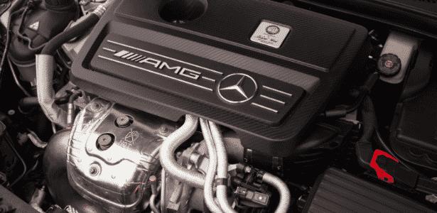Motor do Mercedes-Benz CLA 45 AMG - Divulgação - Divulgação