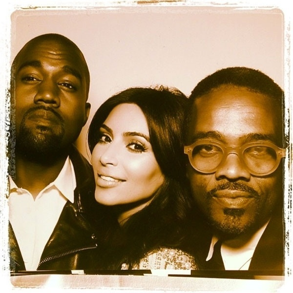 24.mai.2014 - O rapper Tony Williams ao lado do casal Kim Kardashian e Kanye West