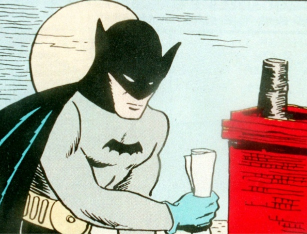 Batman desenhado por Bob Kane - Reprodução