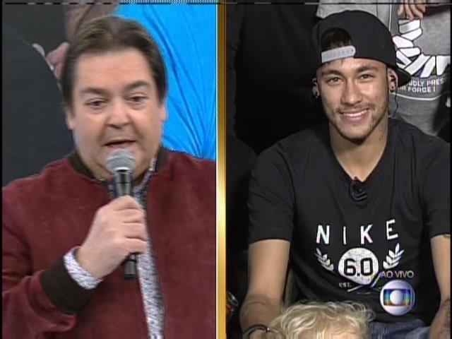 """Neymar participa do """"Domingão do Faustão"""""""