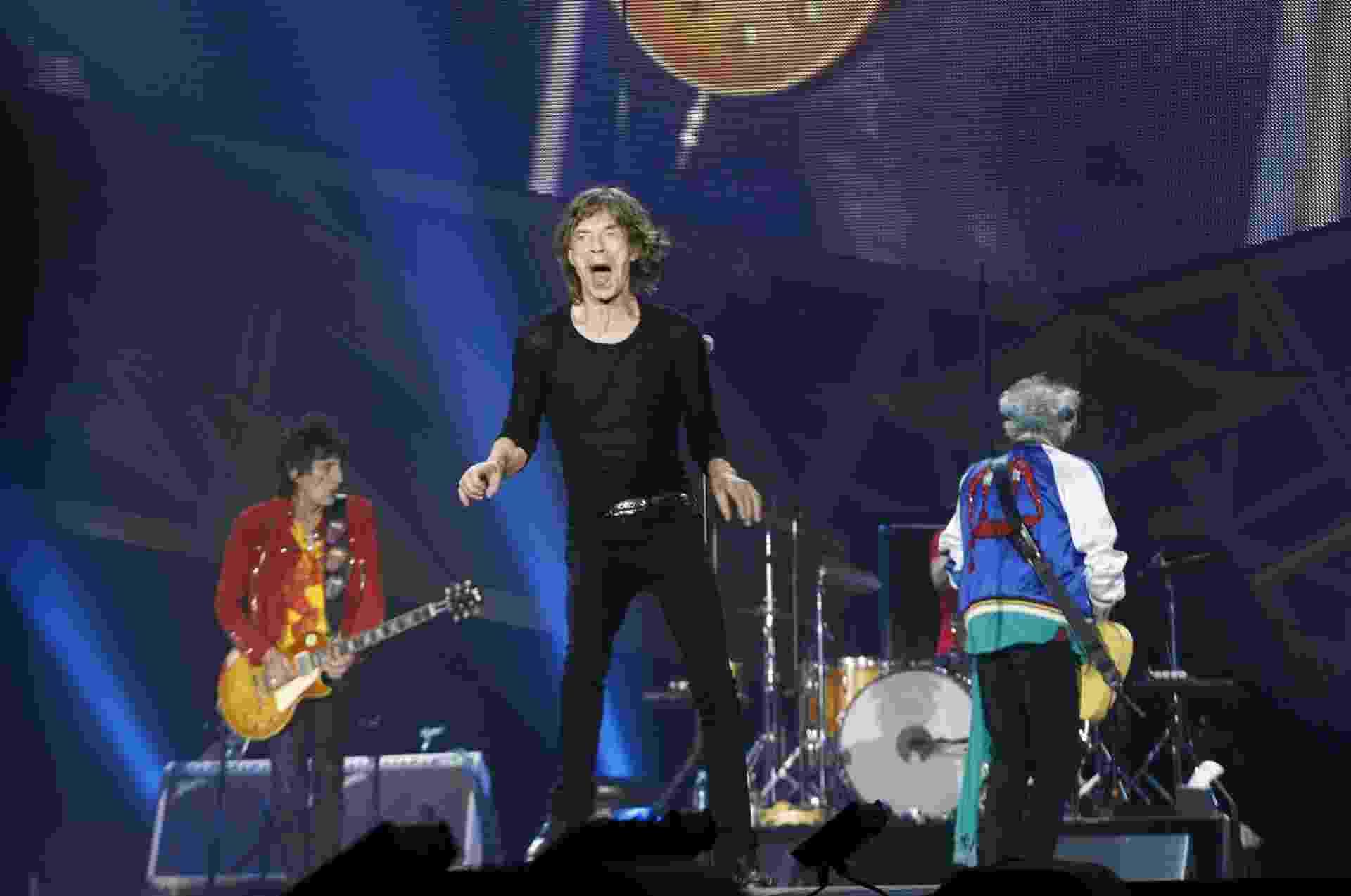 26.mai.2014 - Rolling Stones sem apresenta na Telenor Arena, na cidade de Oslo, na Noruega. É o primeiro show de Mick Jagger desde a morte da namorada, estilista L'Wren Scott, que cometeu suicídio em março - Zumapress