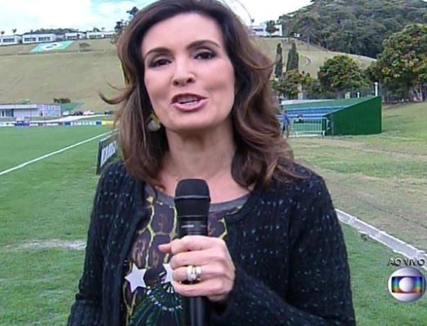 """Fátima Bernardes transmite o """"Encontro"""" do centro de treinamento do Brasil"""