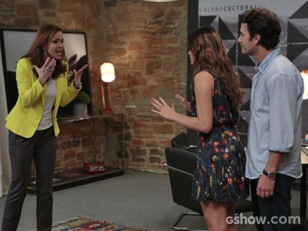 Helena não se contém e ataca Luiza e Laerte