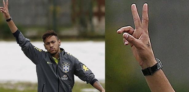 Neymar tatuou uma cruz na mão igual a da namorada, a atriz Bruna Marquezine
