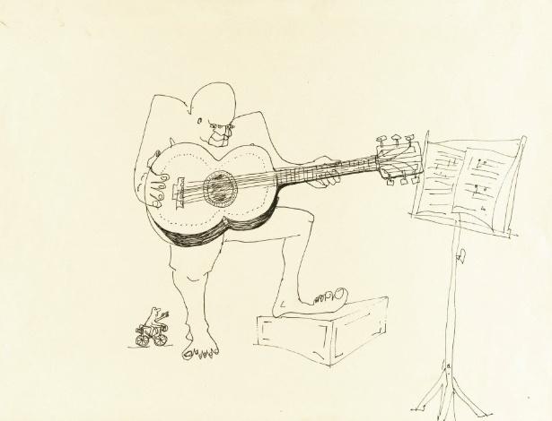 """Reprodução do desenho de John Lennon, que estará em leilão pela Sotheby""""s - EFE"""