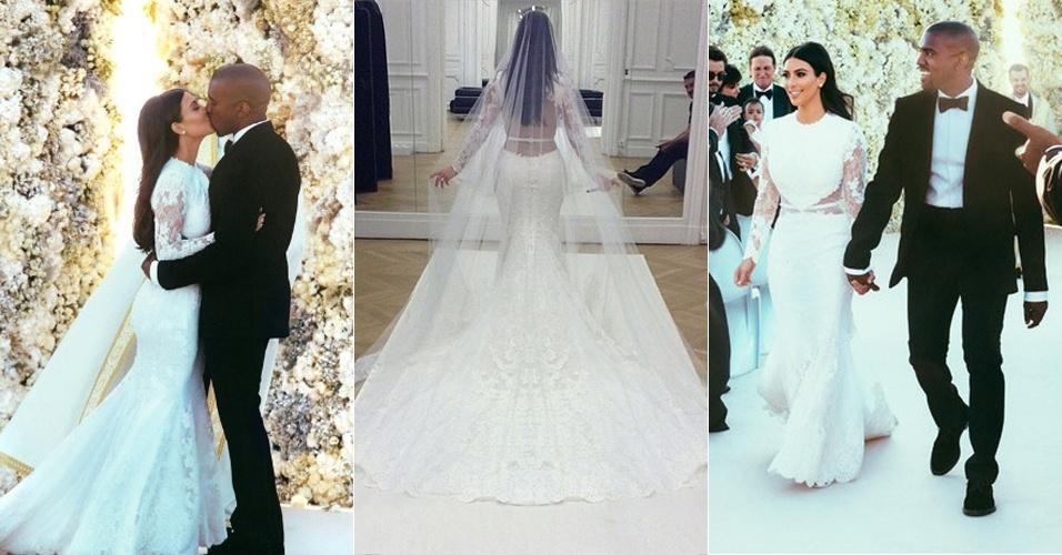 Vestido de noiva - 2014 - Kim Kardashian