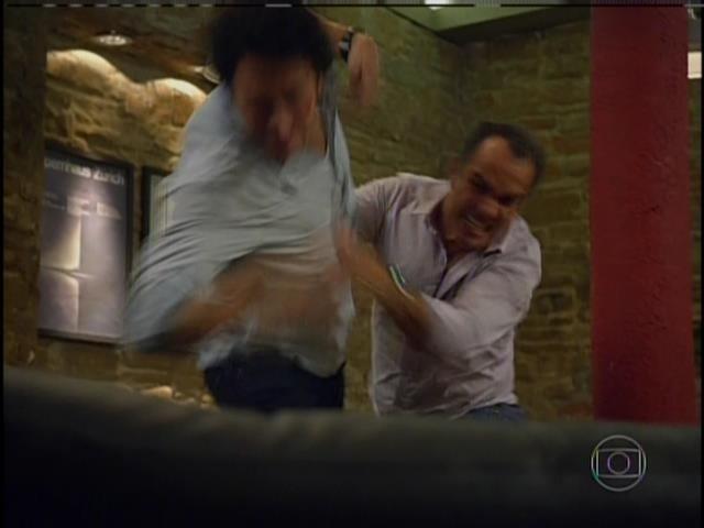 Humberto Martins diz que é inevitável uma cabeçadas e cotoveladas durante gravação de uma cena de briga como a de Virgílio e Laerte