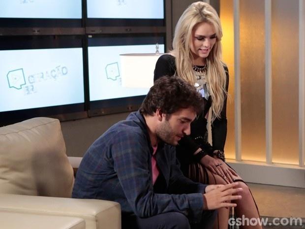Megan não desgruda de Davi