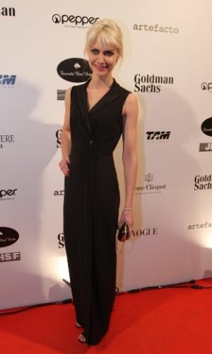 29.mai.2014 - A modelo Ana Claudia Michells prestigiou o baile de gala promovido pela ONG BrazilFoundation, em São Paulo