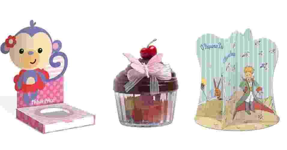 Convites, suportes para doces e caixas para lembrancinha, entre outros itens, podem fazer toda a diferença na decoração do chá de bebê. Para inspirar as futuras mães, o UOL Gravidez e Filhos selecionou alguns produtos que estarão sendo lançados na Expo Parques e Festas (www.expoparquesefestas.com.br/2014), que acontece de 31 de maio a 3 de junho de 2014, no Expo Center Norte, em São Paulo. Apesar de voltado para profissionais dos setores de parques temáticos e festas, o evento também é aberto ao público - Divulgação