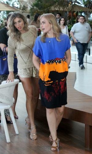 30.mai.2014 - Grazi Massafera gravou com Angélica para o programa