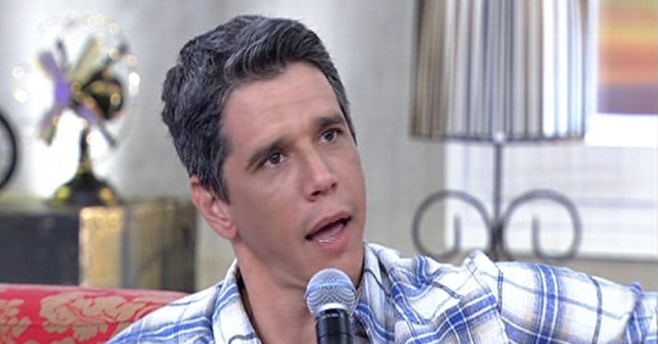 """2.junh.2014 - Márcio Garcia diz no """"Encontro"""" que não se imaginava casado e com filhos quando mais novo"""