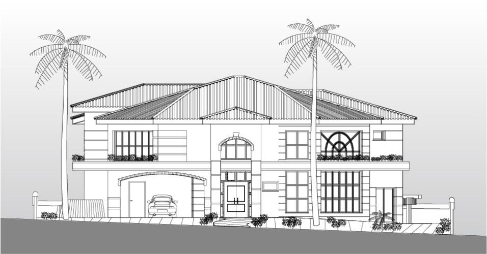 A imponência do estilo neoclássico predomina na fachada da casa do meio-campista da seleção brasileira Oscar, em Americana (SP). O projeto de arquitetura é de Aquiles Kílaris