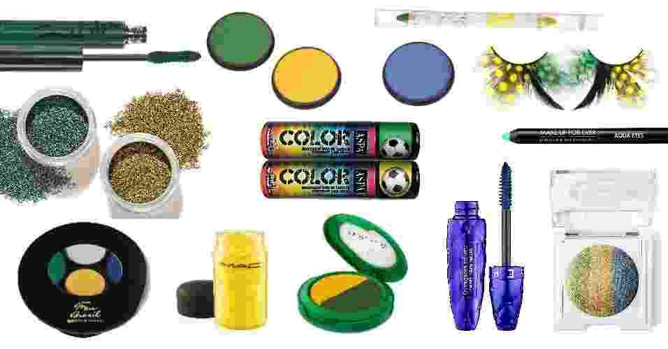 Guia de compras: Maquiagens e acessórios de beleza para torcer pelo Brasil na Copa - Divulgação