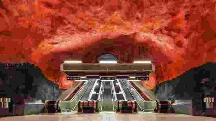 Metrô de Estocolmo, na Suécia - Getty Images - Getty Images