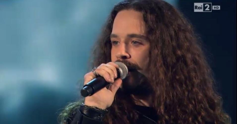 "Giacomo Voli na final do ""The Voice Itália"""