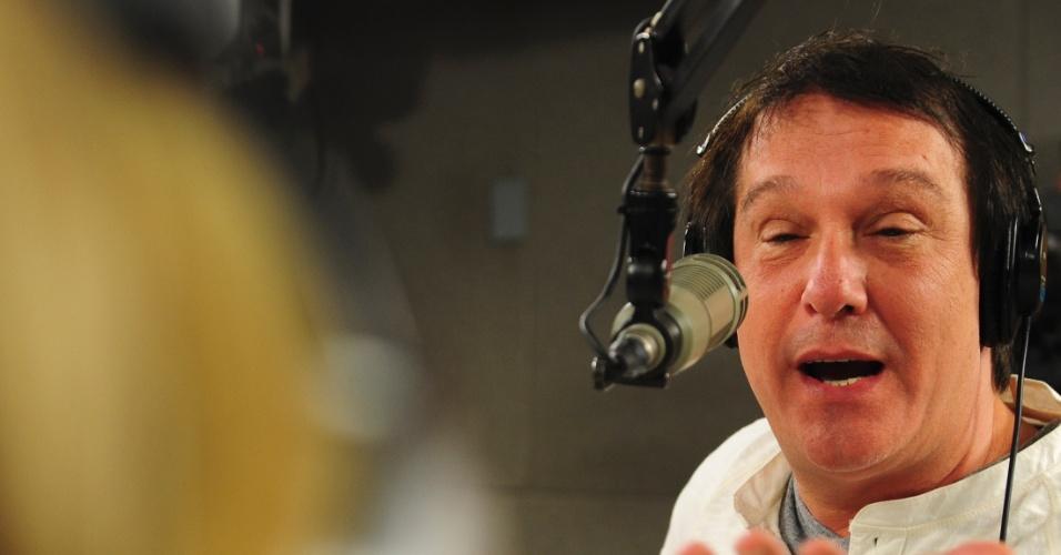 "5.jun.2014 - Bastidores do programa ""Pânico"" na rádio Jovem Pan"