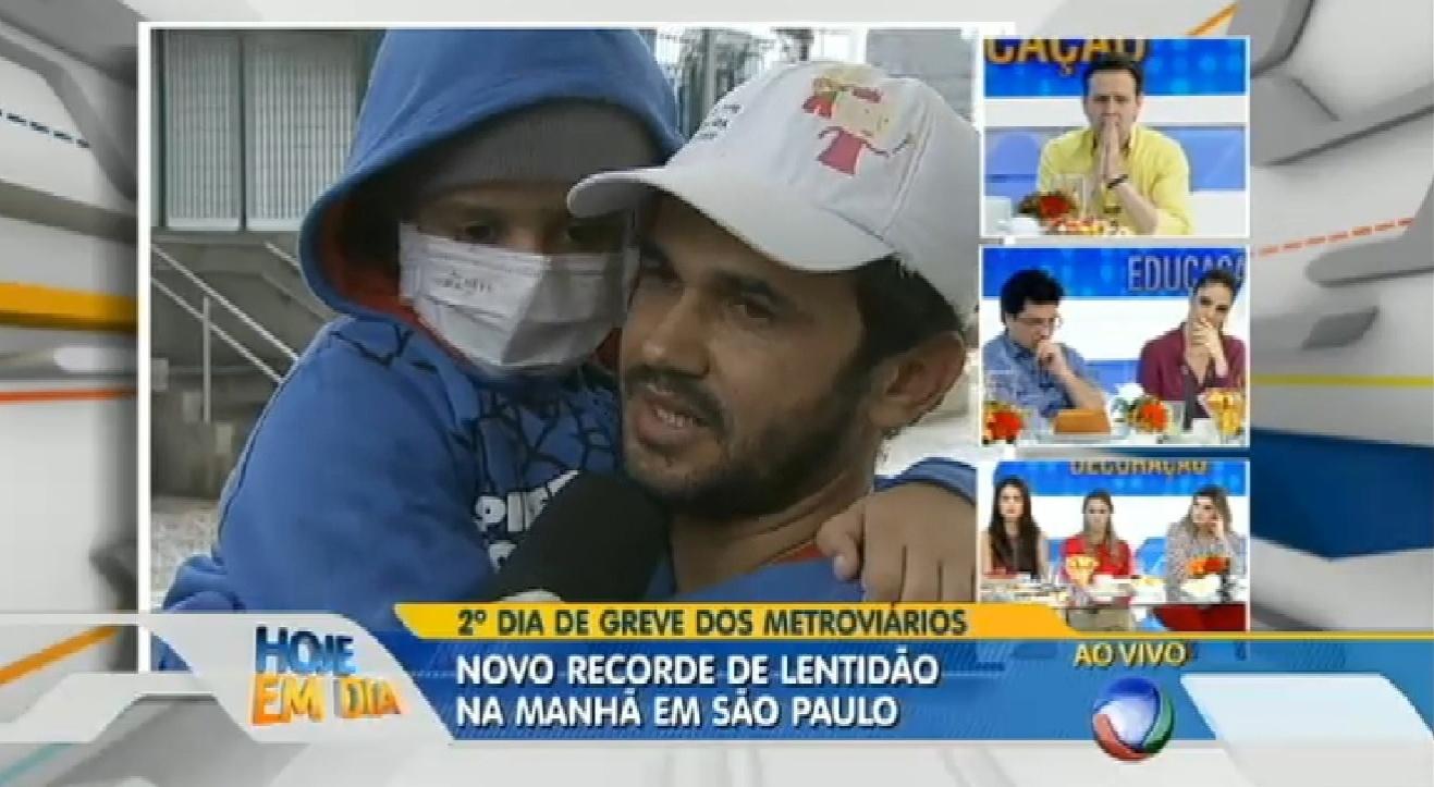6.jun.2014 - Garoto com leucemia não consegue chegar a hospital e recebe ajuda de TV