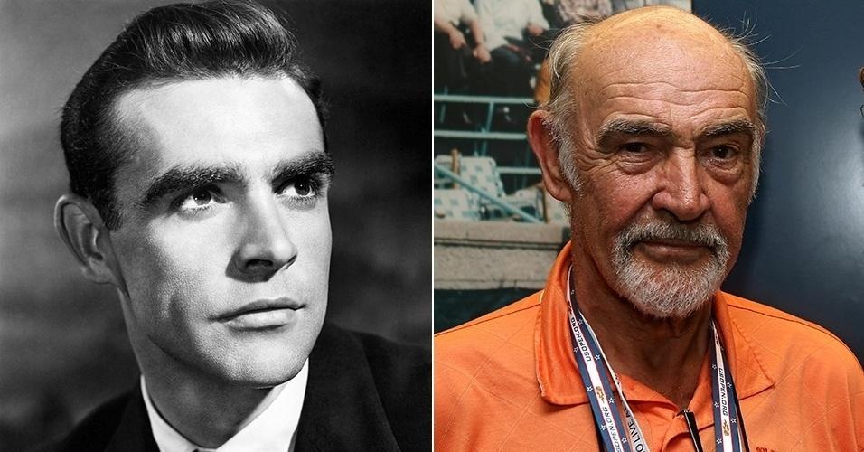 antes de depois - Sean Connery
