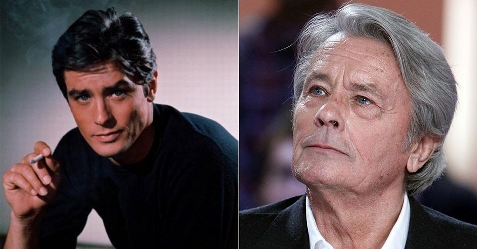 antes e depois - Alain Delon