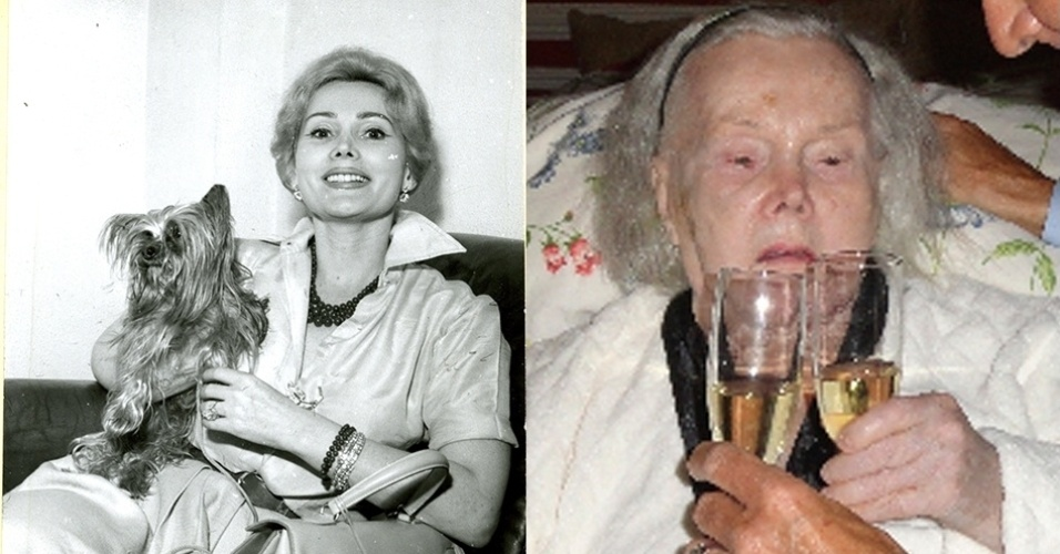 antes e depois - Zsa Zsa Gabor