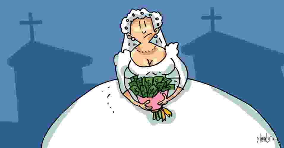 Imagem para matéria sobre como economizar no casamento - Orlando/Arte UOL