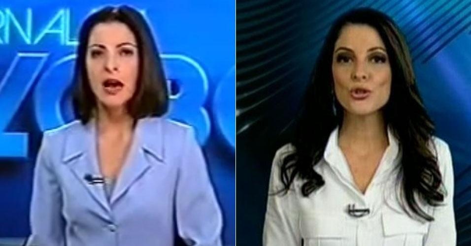 Montagem Ana Paula Padrão na Globo e na Record