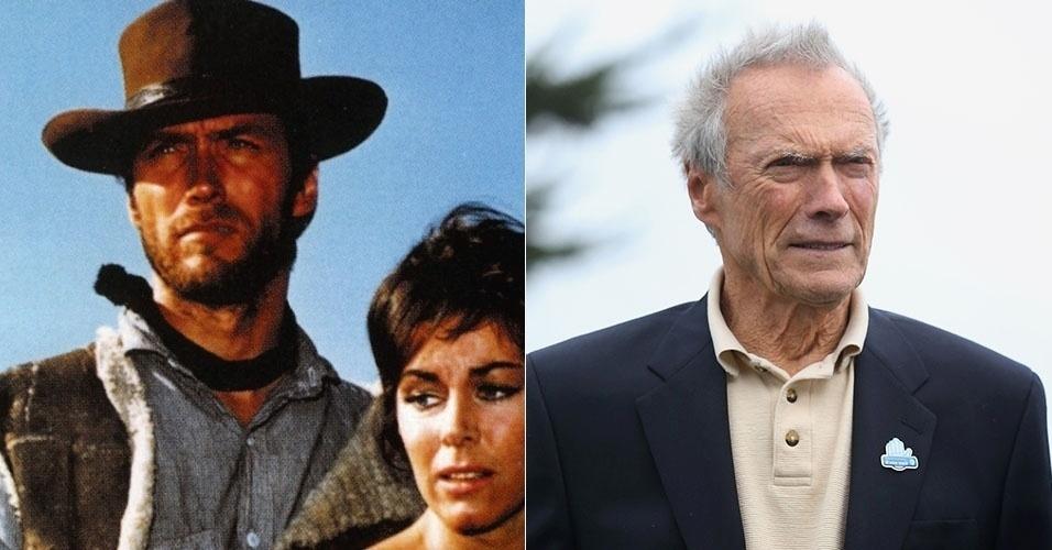 """O ator e diretor Clint Eastwood foi galã de vários filme de faroeste, como """"Por um Punhado de Dólares"""", de 1964. Ainda ativo na profissão, ele prestigiou em fevereiro de 2014, aos 83 anos, um torneio de golfe"""