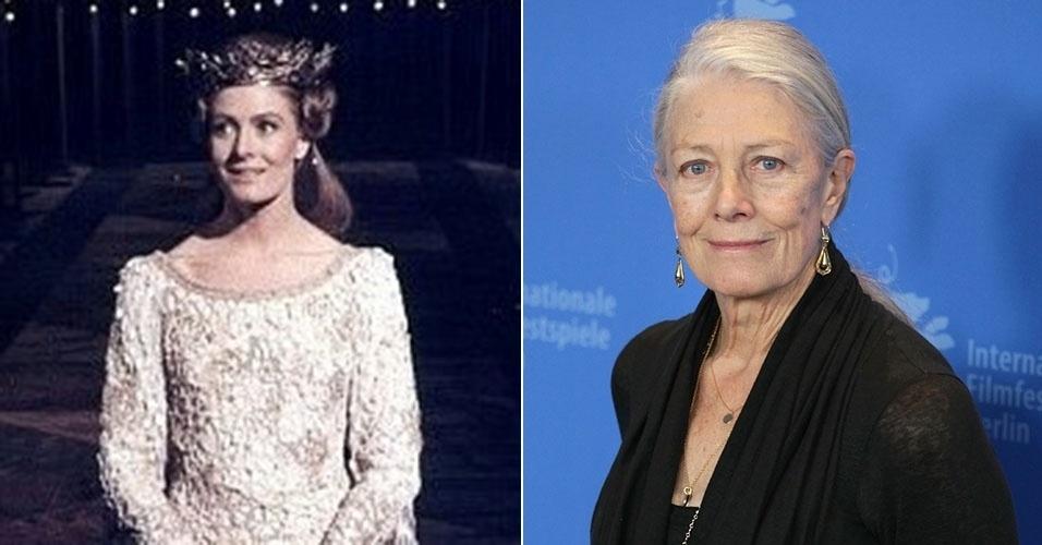"""Vanessa Redgrave estrelou """"Camelot"""" em 1967. Ela continua trabalhando ativamente no cinema e, em 2011, prestigiou o festival de Berlim, aos 73 anos"""