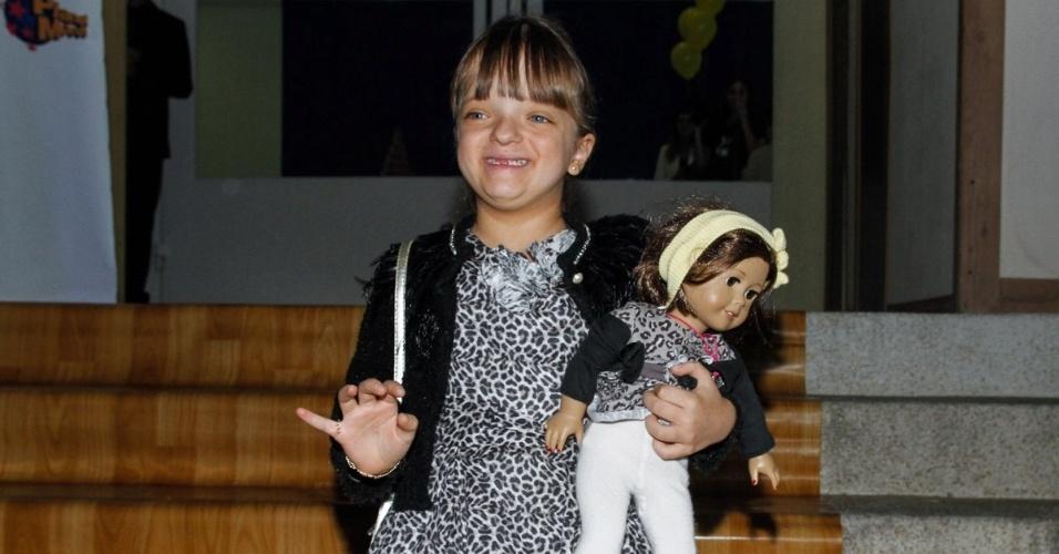 7.jun.2014 - Rafinha Justus no aniversário das filhas de Rodrigo Faro em buffet infantil no bairro de Moema, em São Paulo
