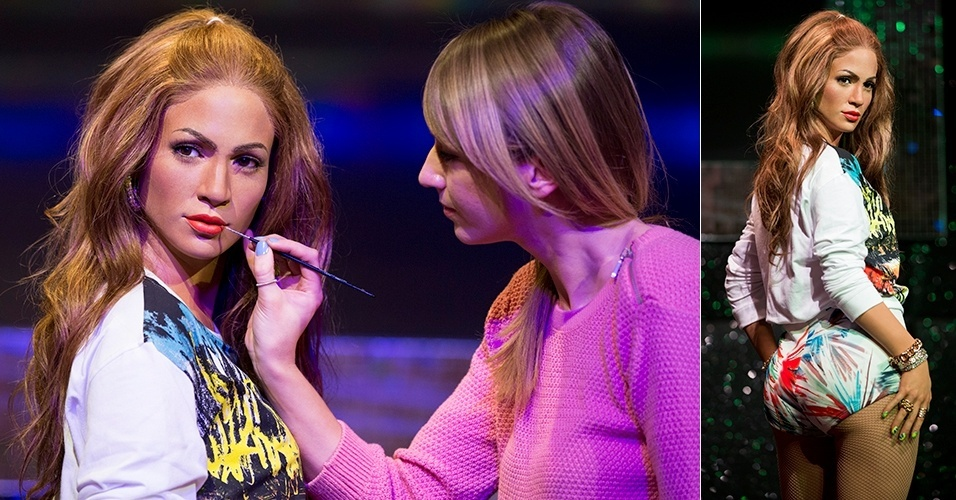 9.jun.2014 - Jennifer Lopez ganhou uma nova estátua de cera no museu Madame Tussauds de Londres, na Inglaterra. Desta vez, a cantora aparece com o look que usou na gravação do clipe