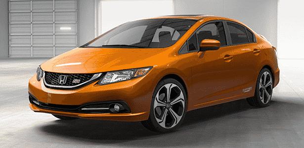 Honda Civic Si Sedan 2014 - Divulgação - Divulgação