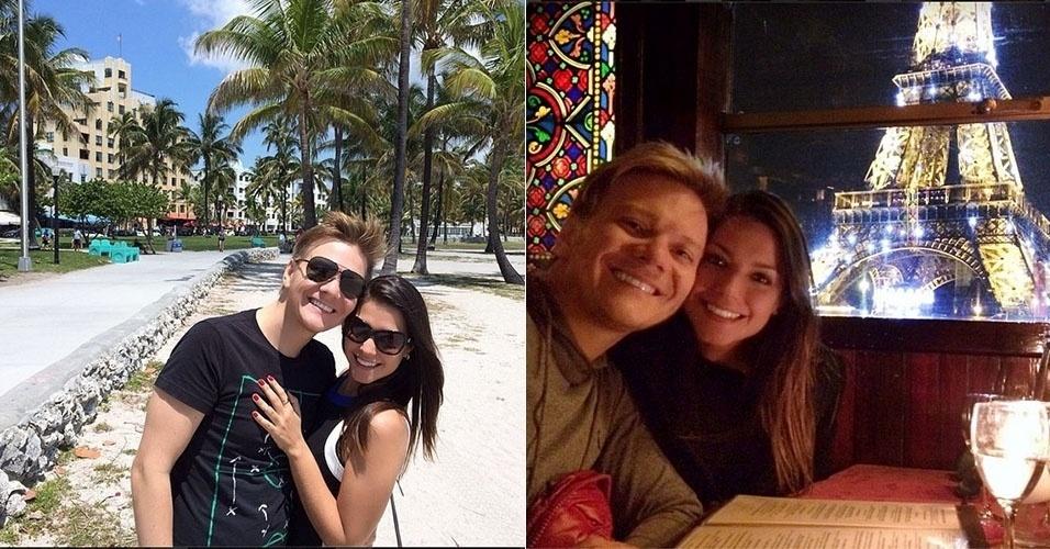 A atriz Thais Fersoza namora o cantor Michel Teló